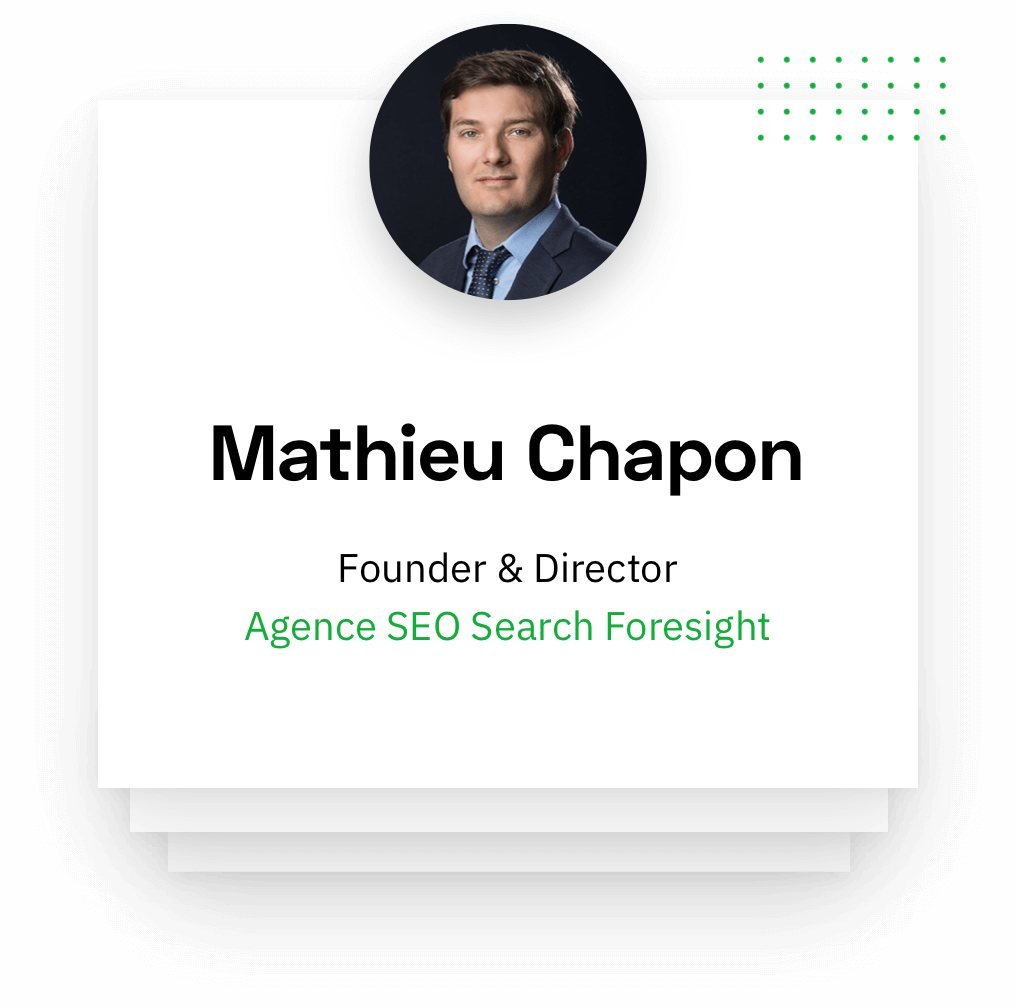 Mathieu Chapon - Founder & Director Foresight