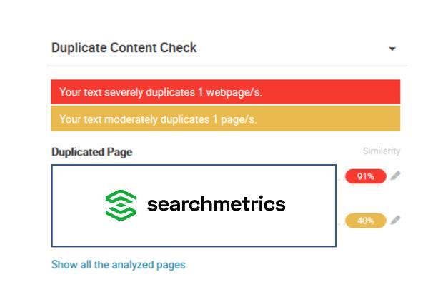 Searchmetrics Glossary: Plagiarism Checker