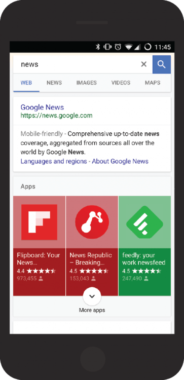 Searchmetrics Study: App Indexing - Mobile