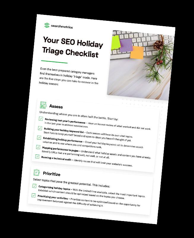 SEO Holiday Triage Checklist PDF Preview
