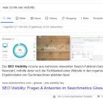 Searchmetrics Glossar: Featured Snippets Beispiel