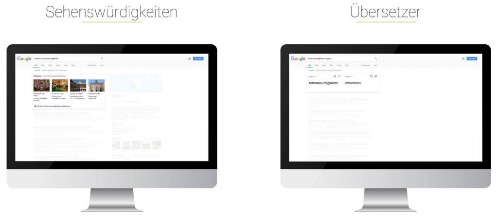 Searchmetrics Glossar: Universal Search - Beispiel Sehenswürdigkeiten - Übersetzer