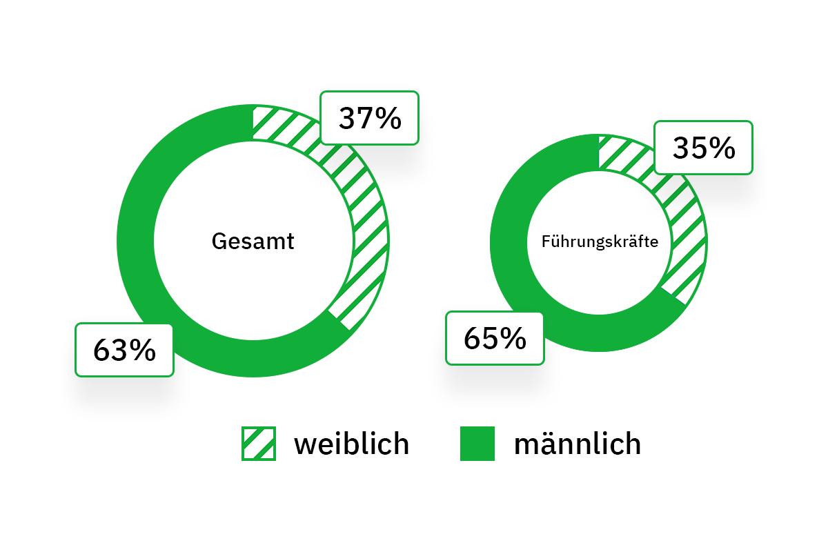 Geschlechterverteilung bei Searchmetrics