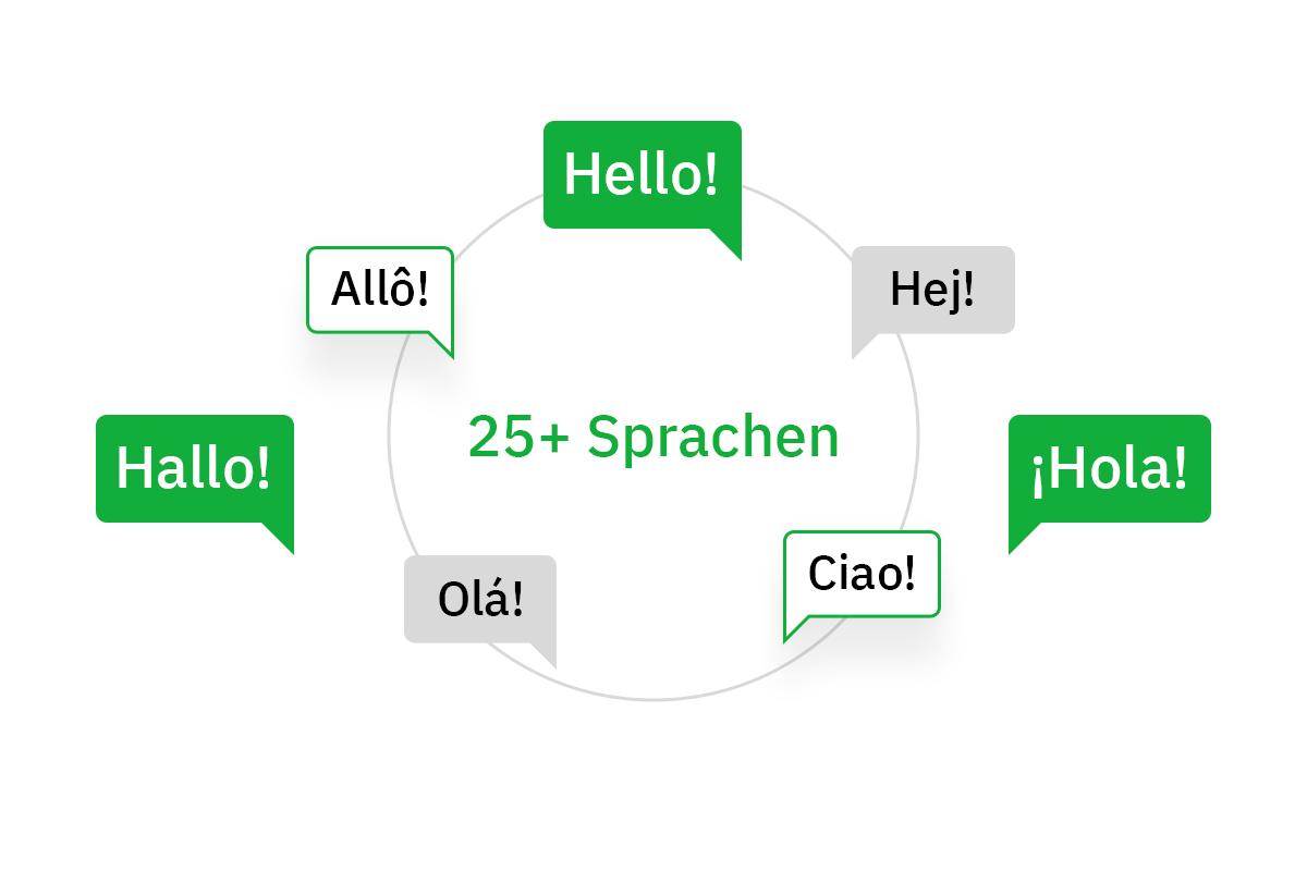 Sprachen bei Searchmetrics